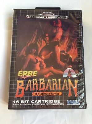 Megadrive Genesis Barbarian All Free Region Boxed Game Cart