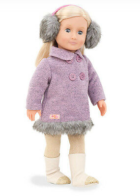 """Fur Coat Genuine Our Generation 18"""" Doll Clothes fit American Girl BRAND NEW!"""