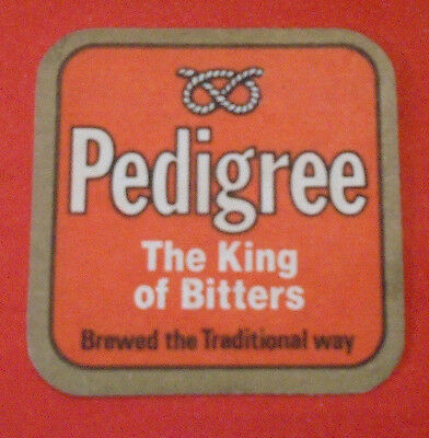 Sous Bock Vintage Ancien Bieres  Carre Pedigree The King Of Bitters Brewed The T