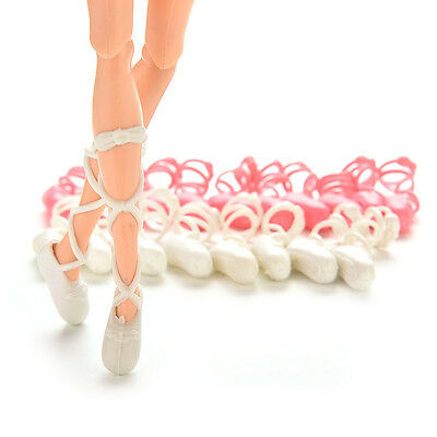 10 Pairs Dolls Shoes Ballet Shoes Bind-type For Barbie Dolls Outfit Random New