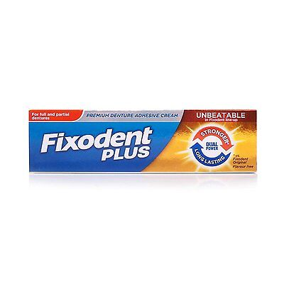 Fixodent Dual Power Adhesive Cream 40gm - Multipack