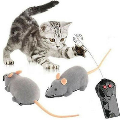 Wireless RC Remote Control Electronic Rat Mouse Mice Toy for Cat Puppy Gift Gray