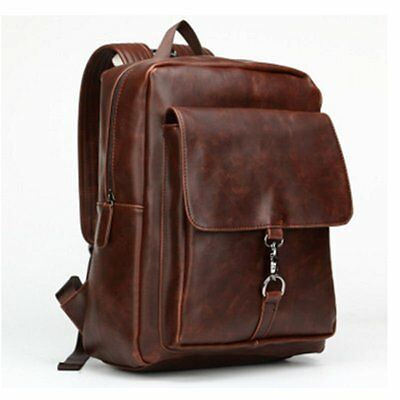Berchirly Backpacks School Retro Crazy Horse Leather Backpack Leather Backpack