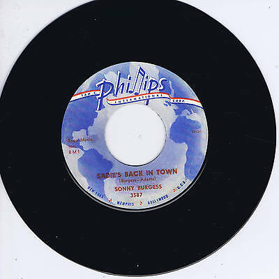 SONNY BURGESS - SADIES BACK IN TOWN (2-Sided SUN Label ROCKABILLY) (REPRO)