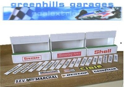 Greenhills Scalextric Slot Car Building Standard Pit Boxes Kit 1:32 scale - Bran