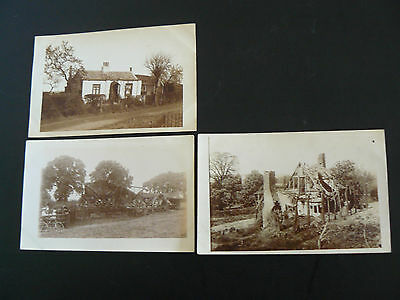 3 x Real Photo RP Postcards - can anyone identify the buildings