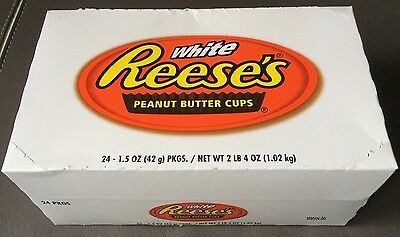 24x Reeses Reese's 2 Peanut Butter Cups mit Erdnussbutter 42g white weiß 48 Cups