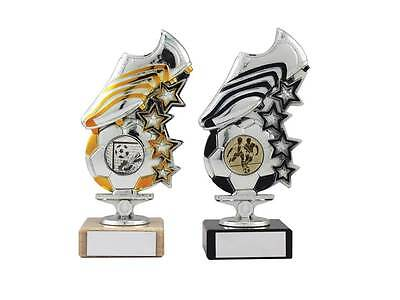 Stars Boot & Ball Football Trophy,150mm,2 Colours,Free Engraving (mup)