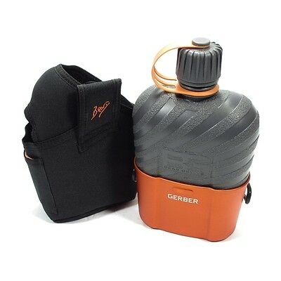 Gerber Bear Grylls water bottle Canteen with Cooking Cup and sheath 31001062