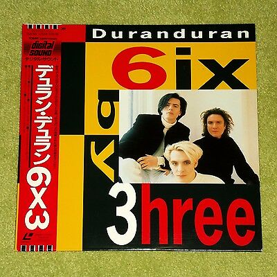 DURAN DURAN 6ix By 3hree [6x3/Six By Three) - RARE 1990 JAPAN LASERDISC + OBI