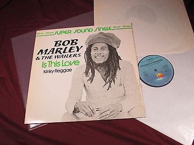 Bob Marley & The Wailers  IS THIS LOVE / KINKY REGGAE  12'' Maxi Island sehr gut