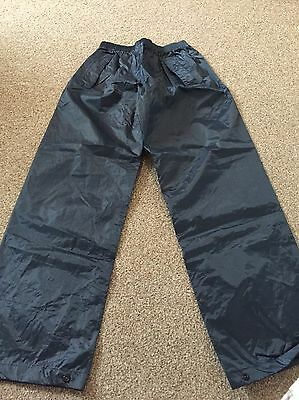 Age 11-12 Years Regatta Outdoor Waterproof Trousers Navy New With Tag