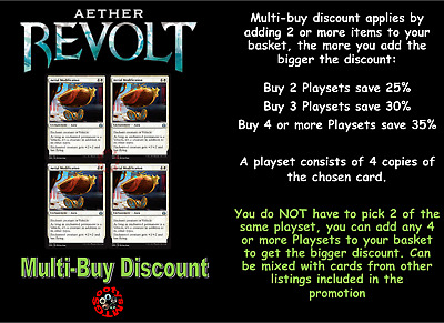 MTG Aether Revolt AER Choose your uncommon playset (x 4 cards) M/NM