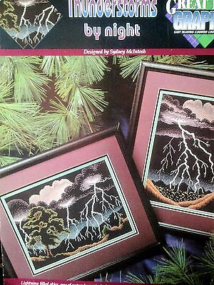 Thunderstorms By Night Cross Stitch Pattern Only
