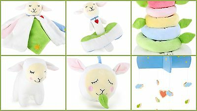 LOTTA LAMB Baby Toys Rattles Musical Toy Mobile Blanket Stacking Gifts Presents
