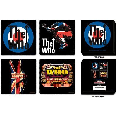 THE WHO 4 PIECE COASTER SET: MIXED DESIGNS NEW BOXED Official Merchandise