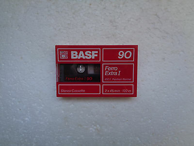 Vintage Audio Cassette BASF Ferro Extra 90 * Rare From Germany 1988 *