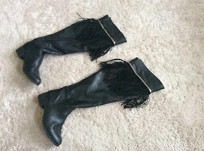 Black New Look Over Knee Boots Size 6