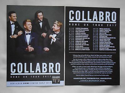 """COLLABRO Live in Concert """"Home"""" UK Tour 2017. Promo tour flyers x 2"""