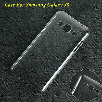 Ultra Thin Clear Crystal Transparent Hard PC Case Cover For Samsung Galaxy J3