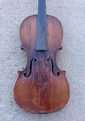 Old Violin For Restoration, Early 1800s.