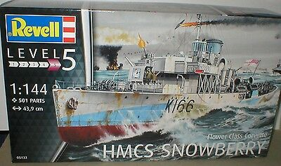 Flower Class CORVETTE  HMCS Snowberry REVELL Kit 05132 with 501 parts. NEW!