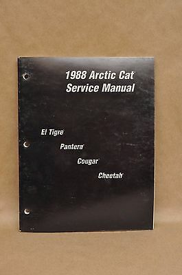 Vtg 1988 Arctic Cat El Tigre Pantera Cougar Cheetah Service Shop Repair Manual