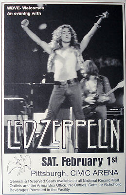Led Zeppelin Pittsburgh Civic Arena Laminated High Gloss Poster