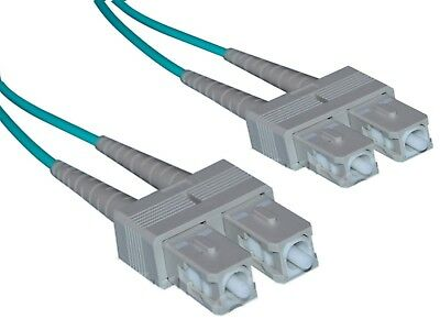 LWL Glasfaserkabel Patchkabel Fiber Optic SC-SC Duplex Multi 50/125µ OM3 50m