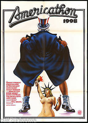 Americathon 1998 Manifesto Cinema Statue Of Liberty Sexy 1979 Movie Poster 2F
