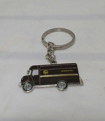 UPS United Parcel Service Keychain Key Ring Brown Truck Logo Delivery