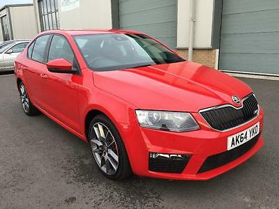 SKODA OCTAVIA 2.0 TDI CR 184BHP VRS 5DR 2015 Diesel Manual in Red