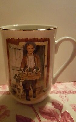 SET OF FOUR Norman Rockwell MUGS in boxes 1985