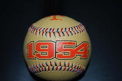 1954 Ny Giants World Champions Spinneybeck Baseball- Willie Mays-Monte Irvin Nm