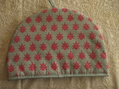 Tea Cosy, Boots Country Living, Cotton,blue/grey with red motif