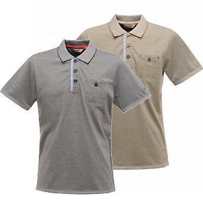 Regatta Adios Mens Lightweight Coolweave Cotton Fabric Polo T-Shirt Multi
