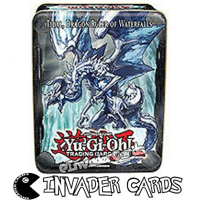 YuGiOh Tidal Dragon Ruler Of Waterfalls Collectors Tin 2013 Empty Storage Box