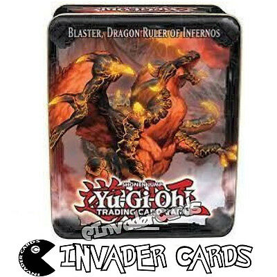 YuGiOh Blaster Dragon Ruler Of Infernos Collectors Tin 2013 Empty Storage Box
