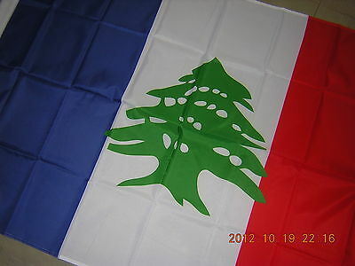 NEW Pre 1946 Lebanon French Lebanese Flag France Middle East Ensign 3ft X 5ft