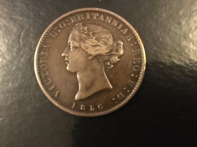 1856 Nova Scotia Half Penny Token High Grade
