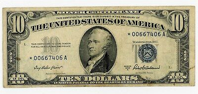 Fr. 1707* $10 1953A Silver Certificate VF Star Note