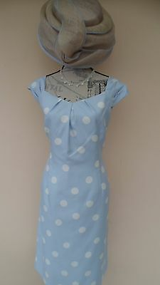 Jacques Vert Special Occasion Dress Size 18 with Hat. (New)