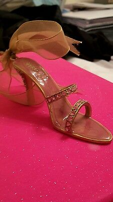 Pink shoe ornament
