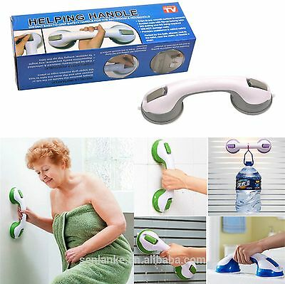 Portable Secure Grip Helping Handles Strong Double Locking Suction Bathroom Aid