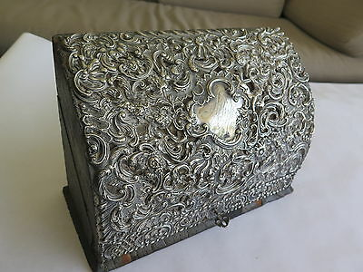 Antique Dominick & Haff Repousse Sterling Silver Writng Box