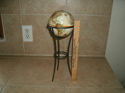 "Replogle 5"" Desk Top Globe ""world Classic Series"" W/ 11 1/2"" Metal Stand, Nice"