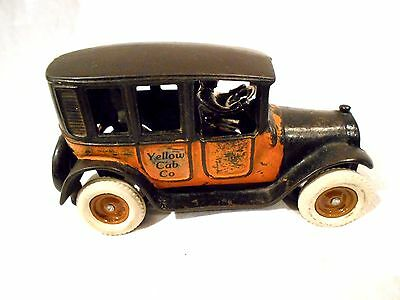 "Arcade Cast Iron Yellow Taxi 8"" -Original Paint"