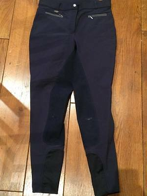 Rugged Horse Navy Blue Riding Jodhpurs Breeches Size 12