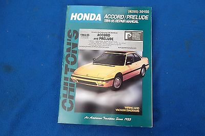 Honda Accord / Prelude 84 -95Chilton's Repair Manual.Used Condition.See Details