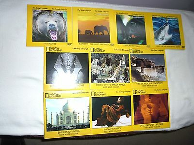 NATIONAL GEOGRAPHIC/ Telegraph DVDs